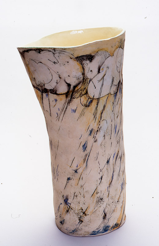 Zues' Power,  2012, mid-fired ceramic with underglazes, 80cm
