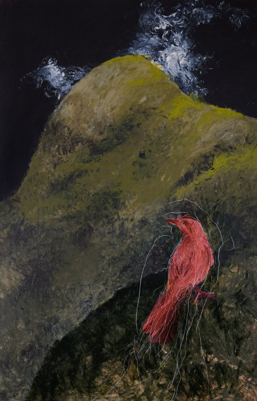 Hecate,  2008, acrylic and oil stick on linen, 130cm(w)x240cm(h)