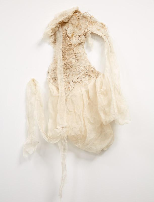 Inanna's Royal Robe,  2014, tarlatan, silk paper.