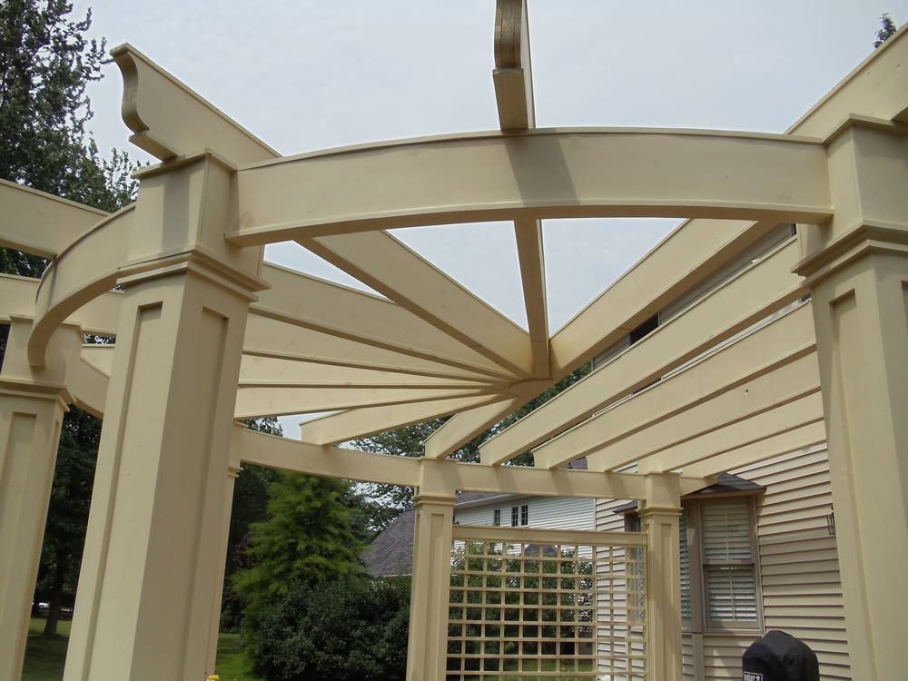 Custom Designed and Built Pergola