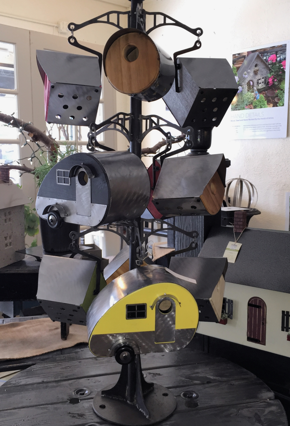 Newly Designed birdhouses have already been selling out both in our own showroom and in our dealers' stores.
