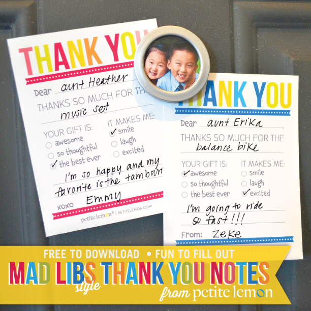 My Favorite Thank You Notes Red Wine Glue Sticks