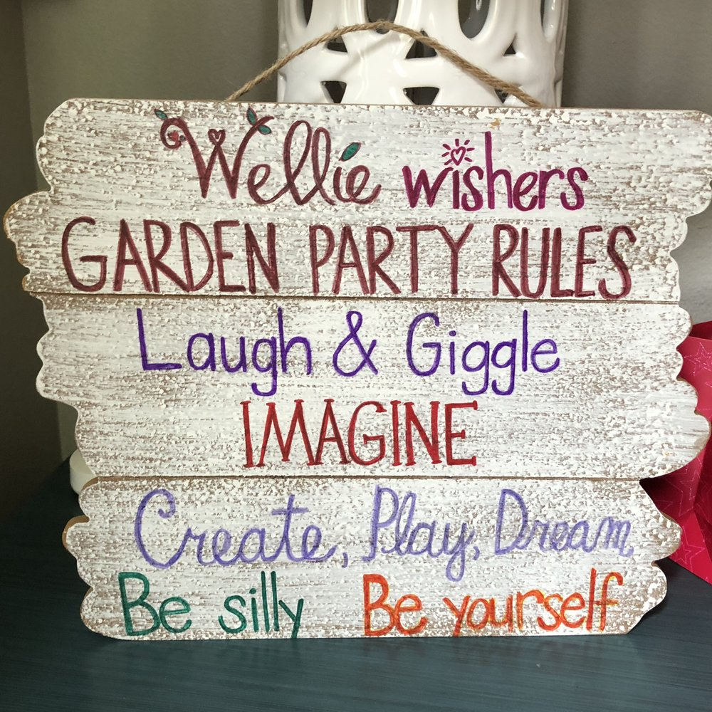 I used a plank sign found deeply discounted at Michaels and Sharpie markers to create this sign the day before the party.