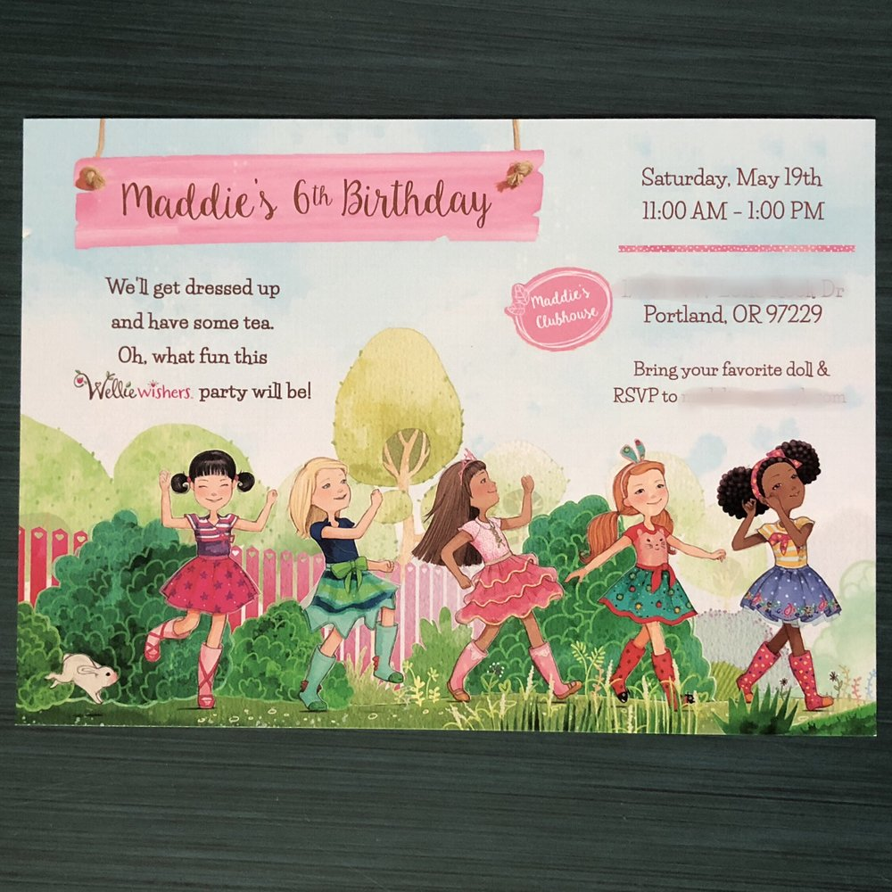 The invitation set the tone for the party. We designed this invitation then printed and mailed it to the party guests. Who doesn't love receiving fun mail?