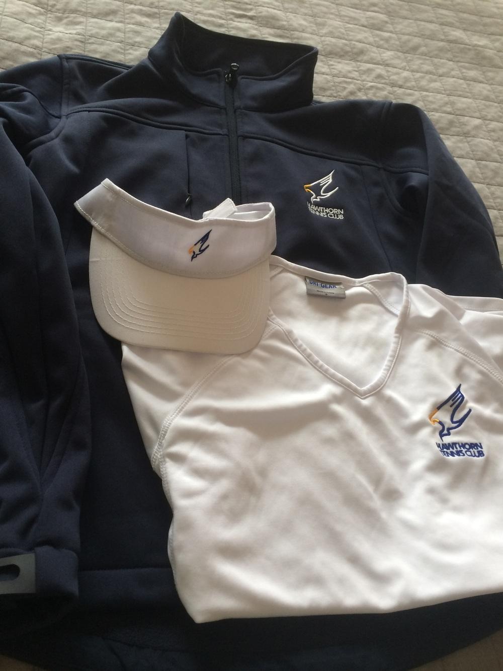 Jacket, Visor, and Women's V-neck shirt