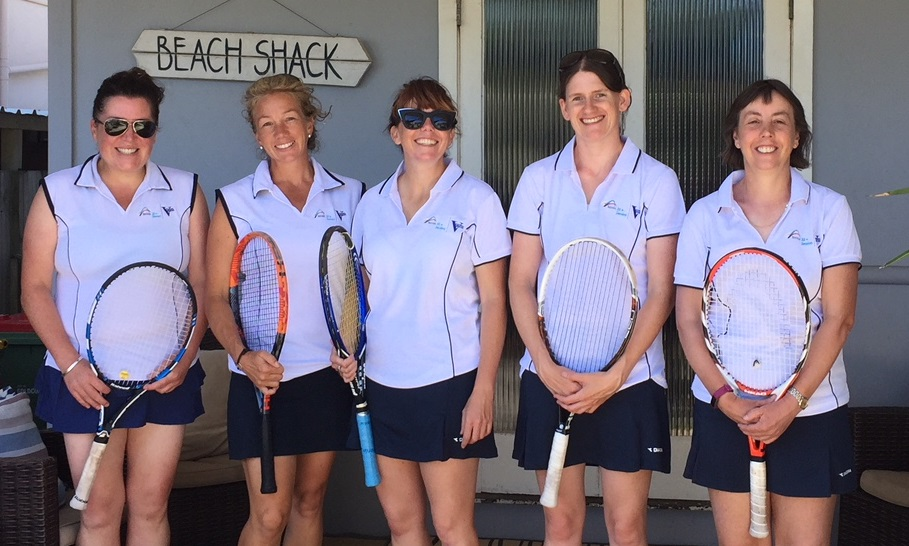 Victorian 35+ team - (L-R) Micah Jones, Renae Aron, Nadine Maloney, Madeline Penny, Michelle Harrison