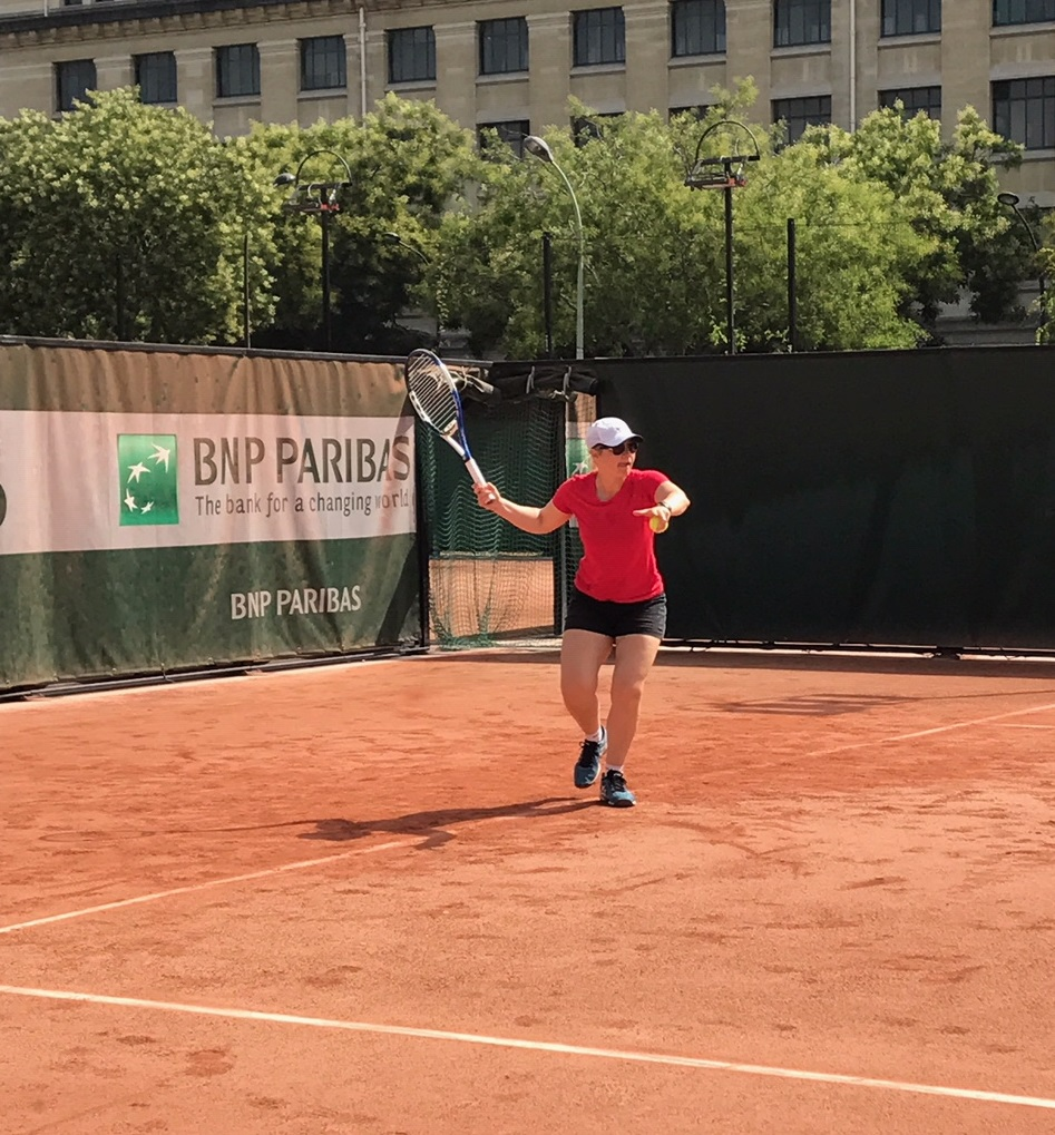 TJ on the french clay
