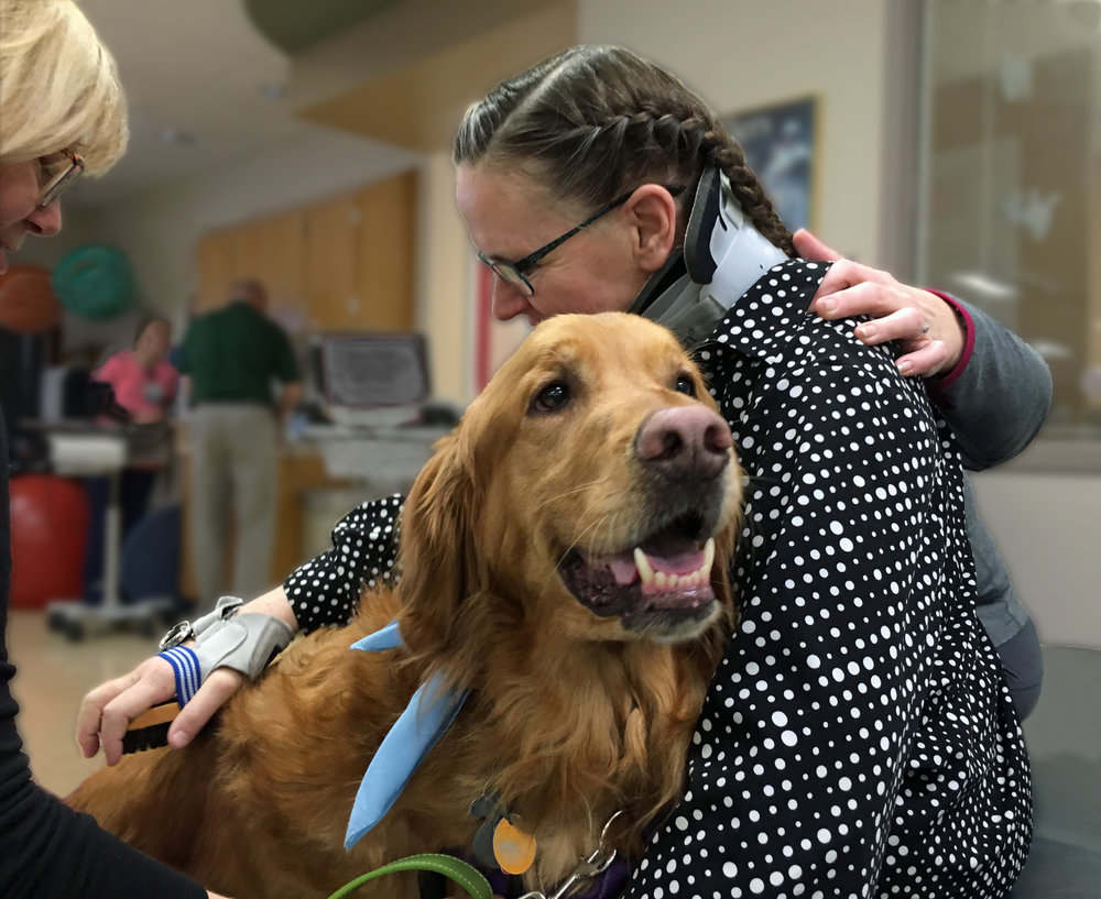 Animal Assisted Therapy Program At Froedtert Hospital Rehabilitation  Featuring Therapy Dog, COOPER V.