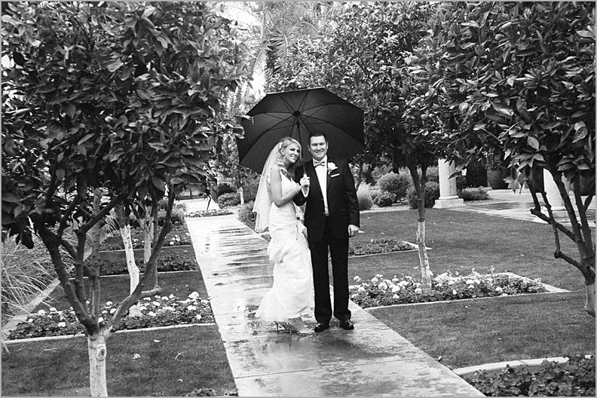 wedding in the rain arizona