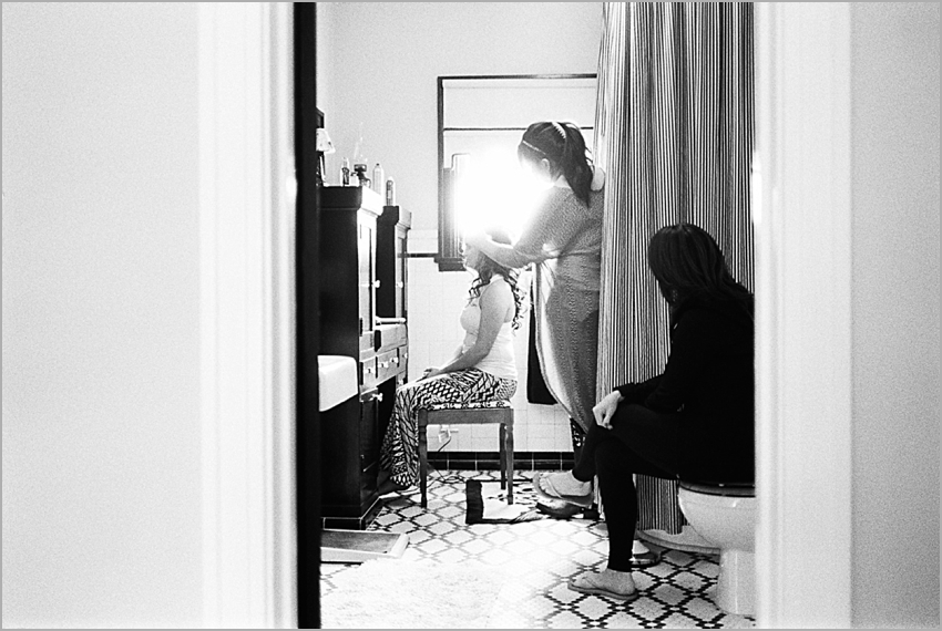 getting ready before the wedding
