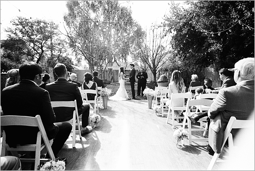 wedding ceremony at felch house phoenix arizona