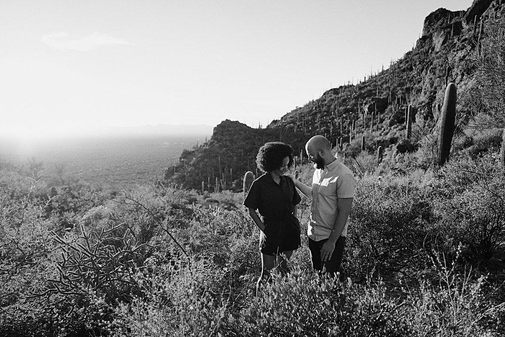 Engagement Photos Saguaro National Park, Tucson, Arizona