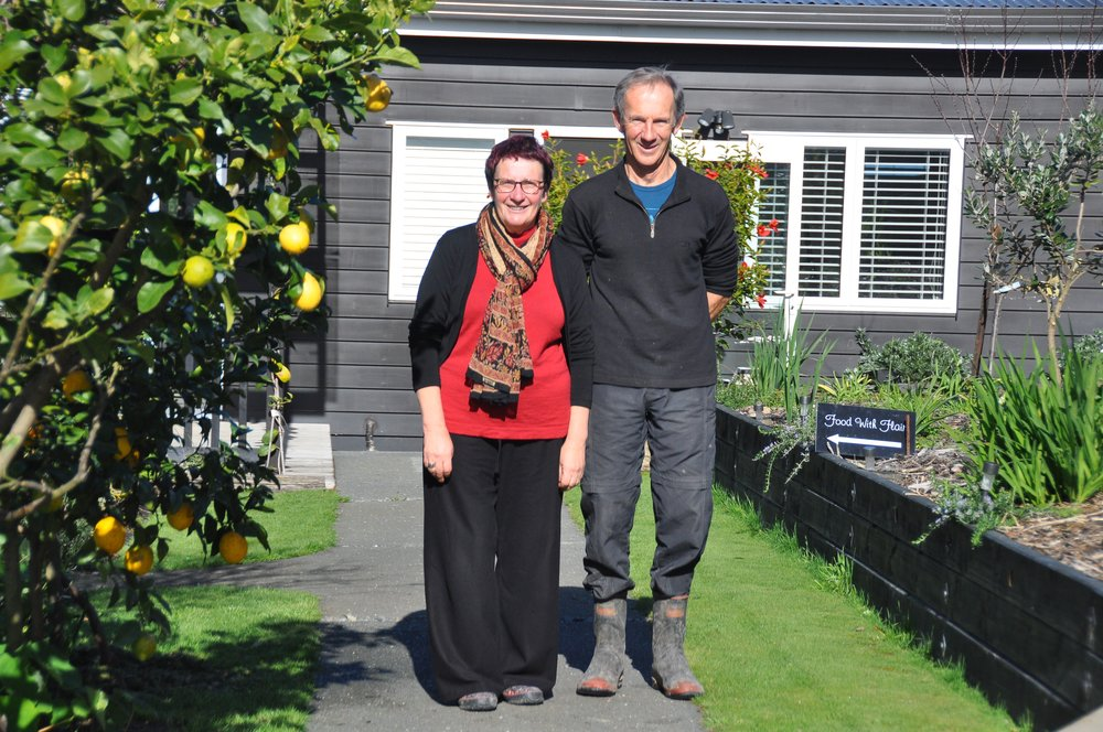 Lyndell Shannon with Garden Owner Simon Wright in Garden 2