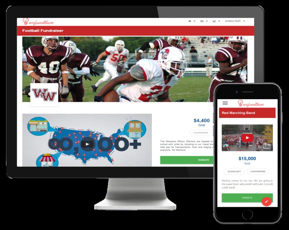 WeFundThem Online Fundraising Platform