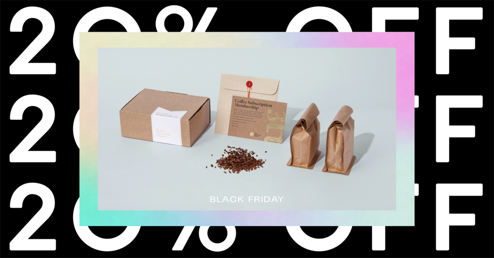 20% off all subscriptions! - People love our subscriptions because we deliver a new artisan coffee to your door each month. Great as a gift this Christmas!