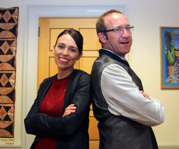 Labour deputy Jacinda Ardern with leader Andrew Little. One of these two will be New Zealand's next Labour PM.  She'll be great.