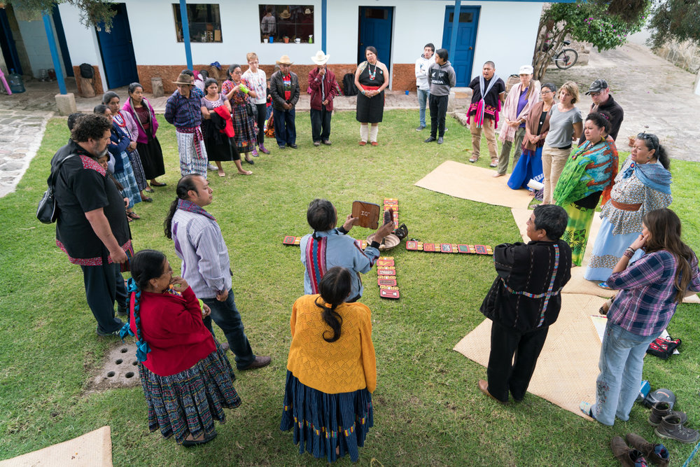 At Escuela K'ikotemal with Te Ha partners as a part of the 2016 Te Ha gathering in Guatemala.