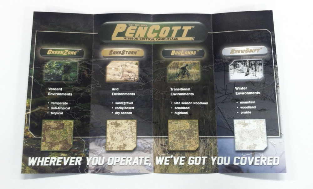 The inside spread was perfect to showcase each of PenCott's product line.