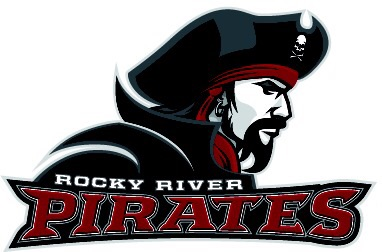 The Rocky River Pirates logo supplied to us.