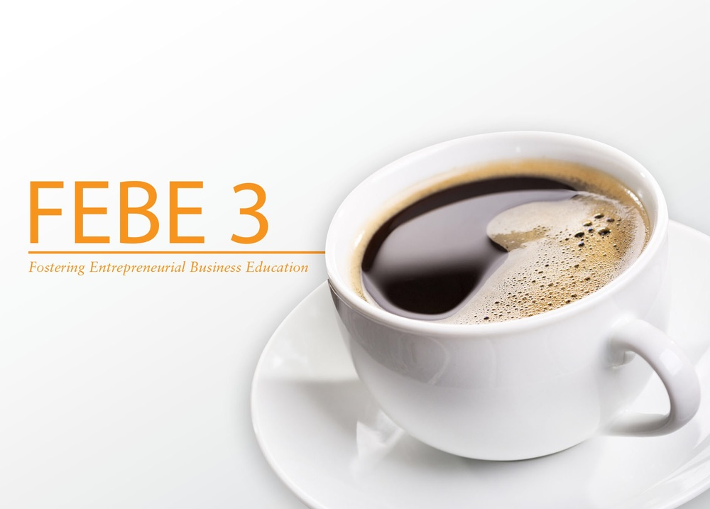 The front of the notecard for FEBE3, also the key branding image.
