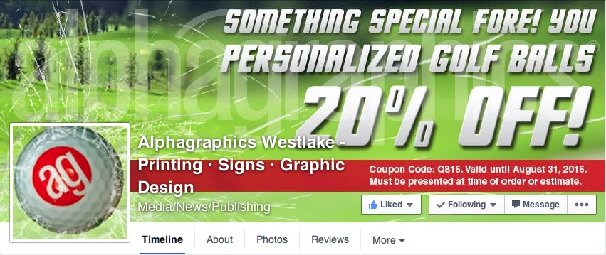 A screenshot of the AG Westlake Facebook page for August. A great way to demonstrate our abilities, plus a way to offer clients something when stopping by every month.