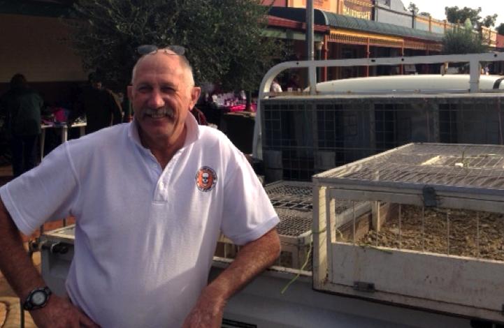 Ian Heberle, President of the Champion Bay Pigeon Club