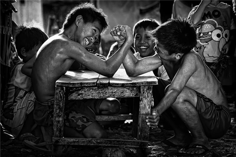 Arm Wrestling - 61st SIPA PSS Monochrome Gold Medal Winner 2014 - Adhi Prayoga, Indonesia