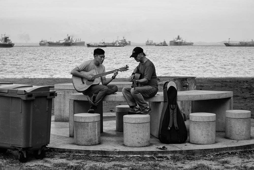 Jam Session on the beach. Converted in Silver Efex Pro 2, cropped & sharpened.