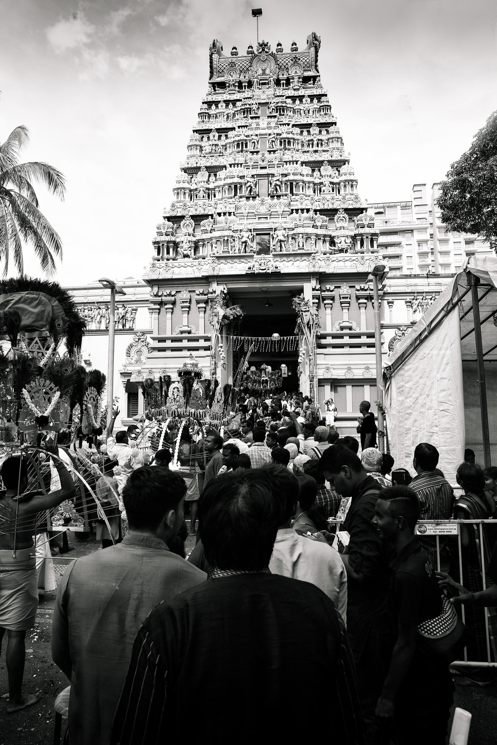 The destination of the pilgrimage where those who have carried  kavadi  are ultimately blessed. It is only a short walk from here to a small area where the devotees will be finally divested of their burdens.