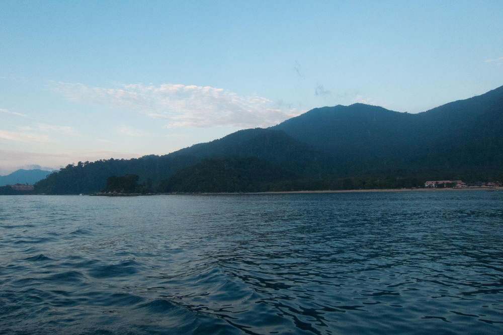 Dawn upon arrival at Tioman Island