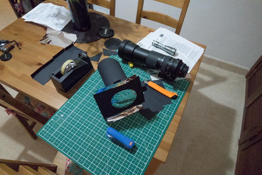 Lens & DIY filter side-by-side