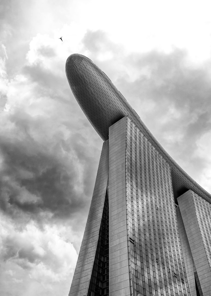 The Marina Bay Sands hotel is a hugely popular landmark and a very, very common sight in photographs. I tried to take it from a different angle and present my own vision of it in a different way.
