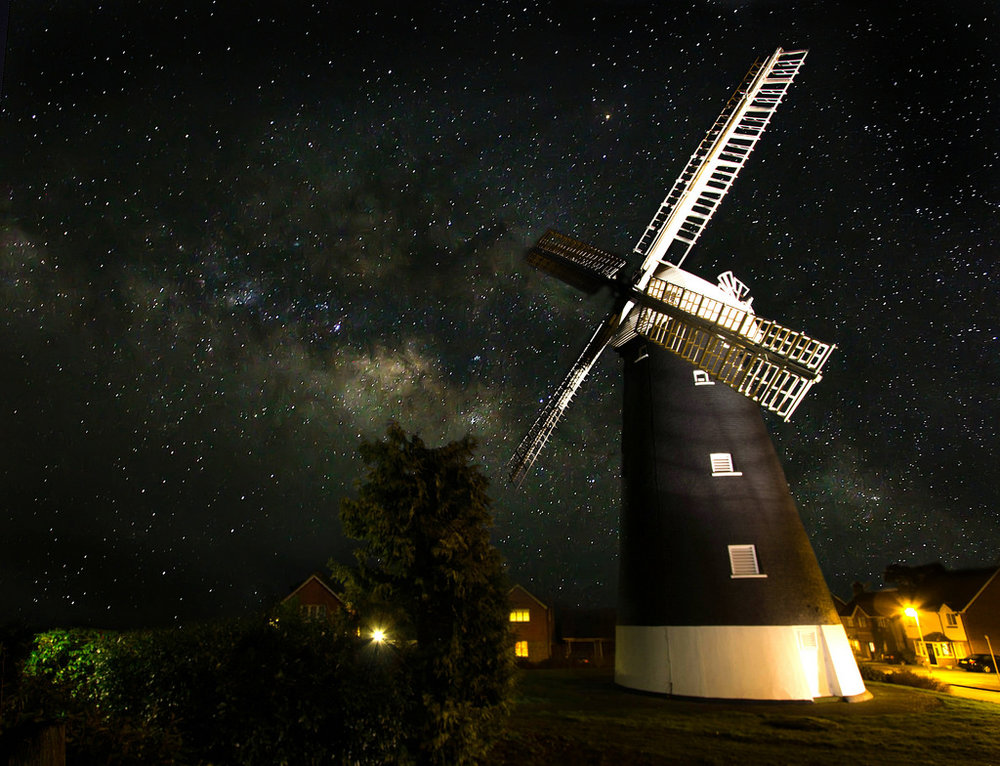 The Windmill, a very simple composite but I wanted the end result to look like it could actually be real.