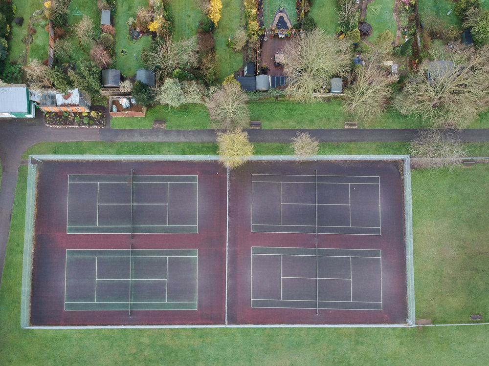 The OCD part of me is furious they couldn't get all of the tennis courts aligned...