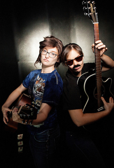 Us as Flight of the Conchords at Schtick or Treat