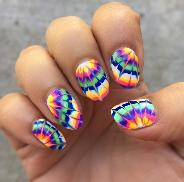 Here's a close look at some tie dye inspired nail art by Moka! Loving the  festival vibes of this nail design. Moka is best known for her complex nail  art at ... - TIE DYE TO DIE FOR — Hello Birdie Nail & Lash Lab