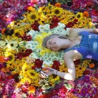 HEDDA BRORSTROM Farmer-Florist & Cupid at Full Bloom Flower Farm Sebastopol, Ca fullbloomflower.com