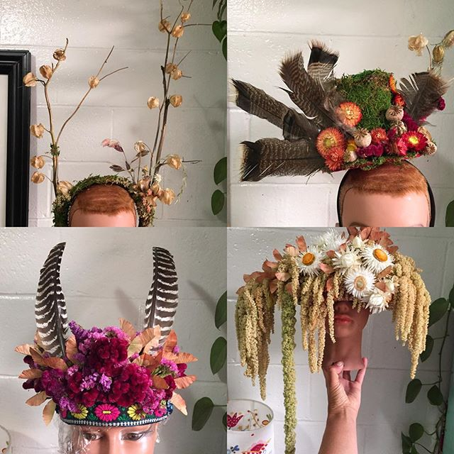 ***NEWSFLASH*** A whole bunch of us @nbflowercollective farmers and florists will be descending on Golden Gate Park for our 3rd annual installment of Flower Lands @outsidelands this coming weekend August 10-12th! Perhaps some of you might want to visit us at the Panhandle stage so that you can try on some of these floral headpieces from the wildly talented Mandy of @mandaliondesigns ?!? #flowerlands2018