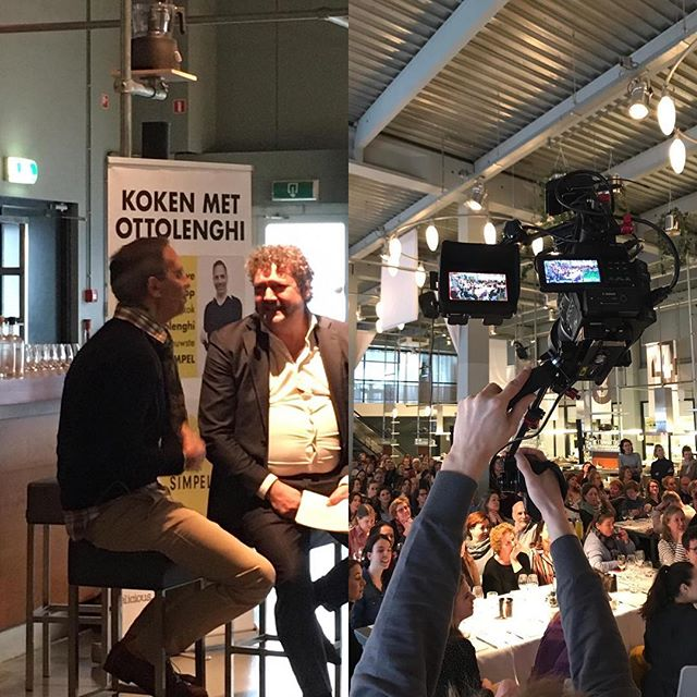 Interviewing Yotam Ottolenghi @kookfabriek voor 200 hardcore Yotam-fans. Great day and vibe! #yotamottolenghi #simple #fontaineuitgevers #amayzingmediablitz #bestsellerbook #foodtrends