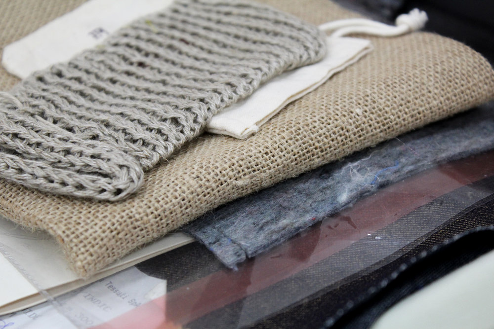 Natural textiles: hemp, jute and cotton  Below- Mogye and Dong Jin Textiles
