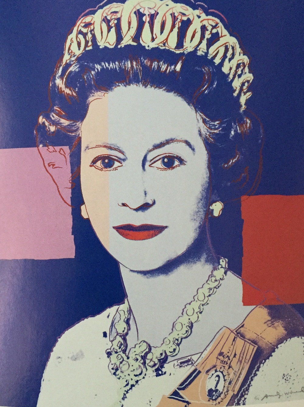 Queen Elizabeth II. b.1926. Andy Warhol, 1985, Silkscreen print, 1000 x 800mm.National Portrait Galery (NPG 5882(2))