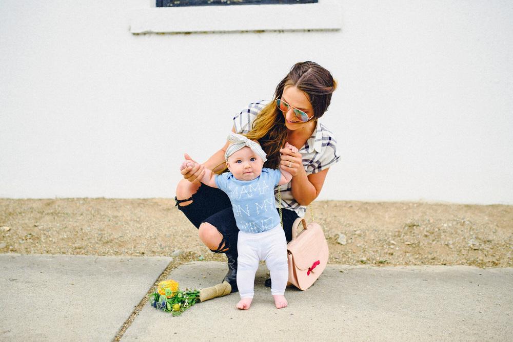 Ciera Hudson wears Kalamarie's Josie Mini Saddle