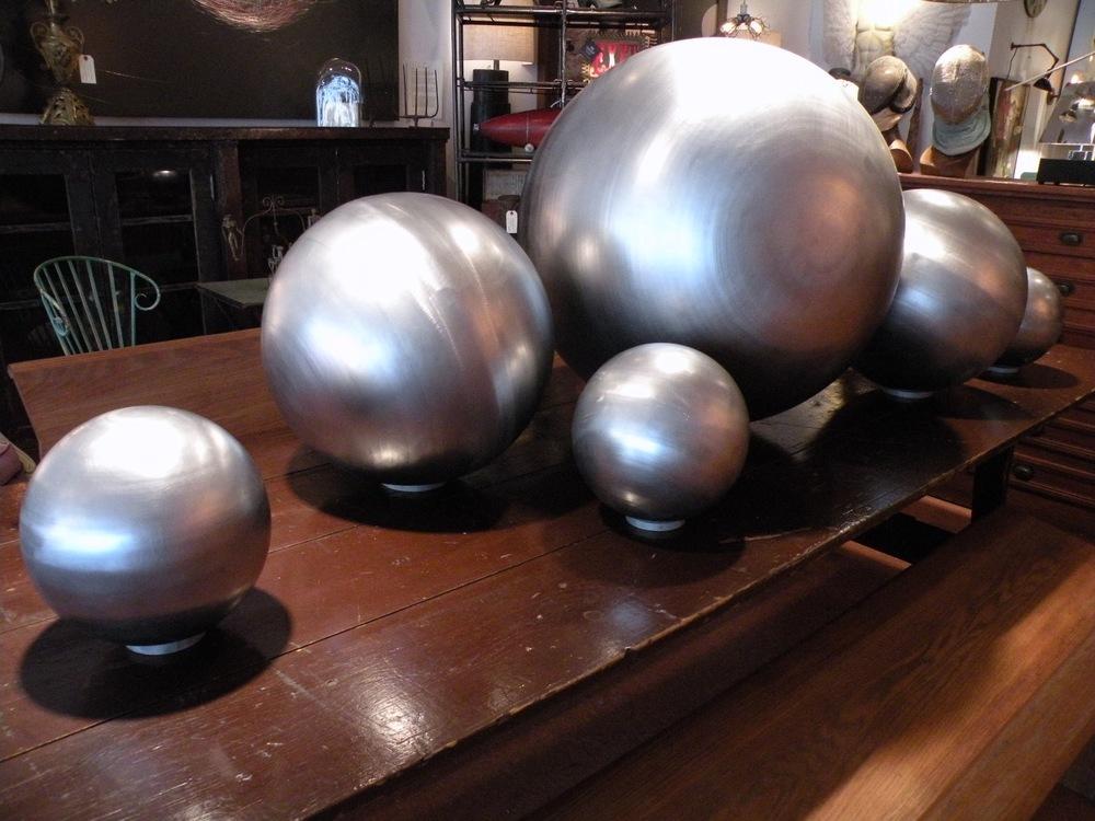 Giant Spun Aluminum Spheres