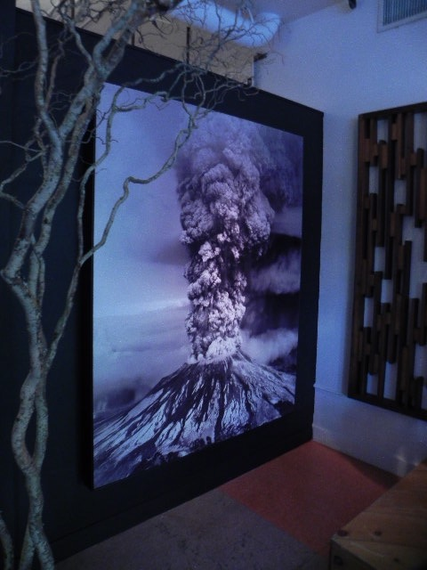 Custom Steel Framed Mt St. Helens Photo