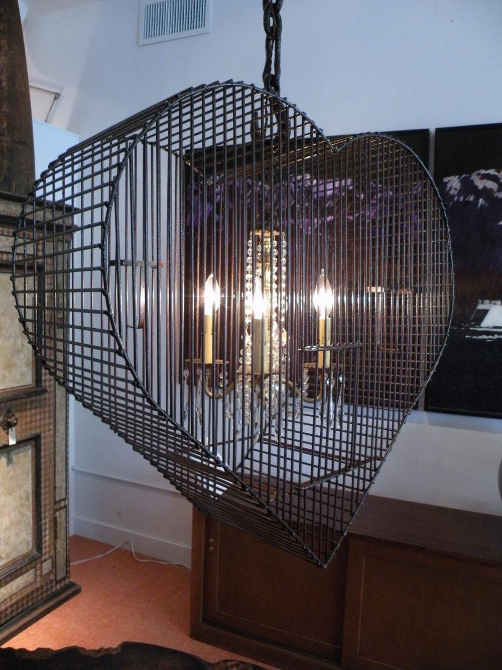 Victorian Love Bird Cage Pendant
