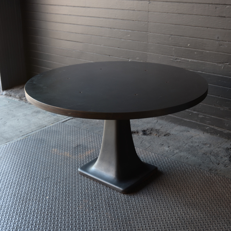 base table restaurant dining full of height room cast decorations pedestal size iron bases bar