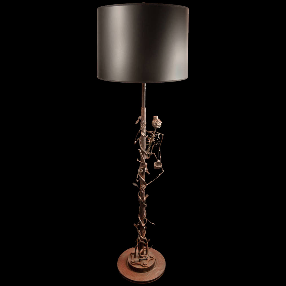 Monkey Skeleton Floor Lamp