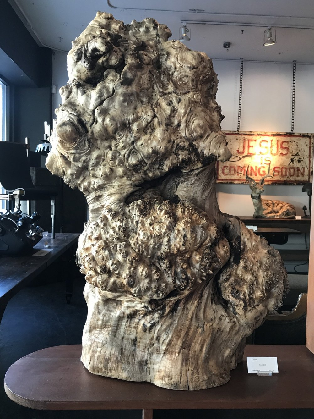 Burl Slab support