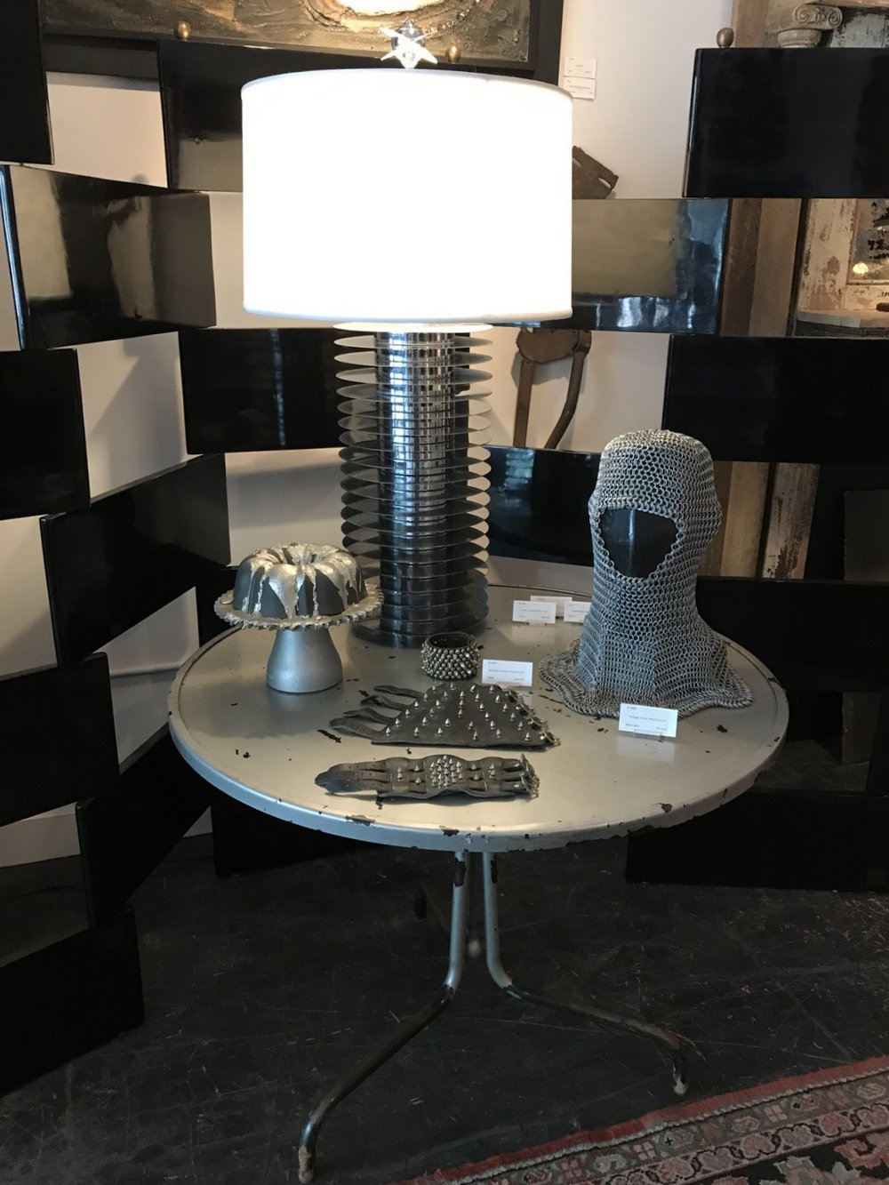 Custom Made Chrome Table Lamp