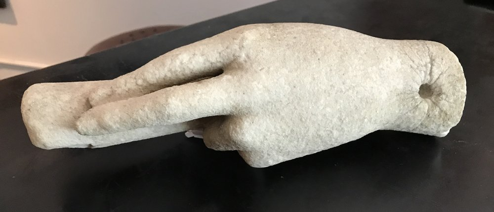 Carved Marble Hand